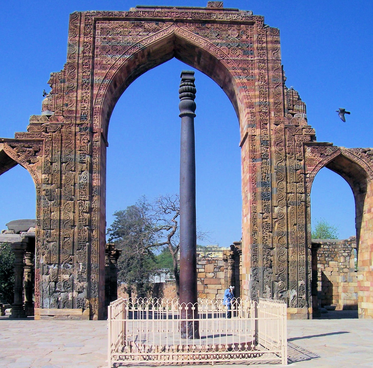 Chandra Gupta's Iron Pillar of Delhi from 415AD with the Inscription about the Vahla/Wahlah Dynasty