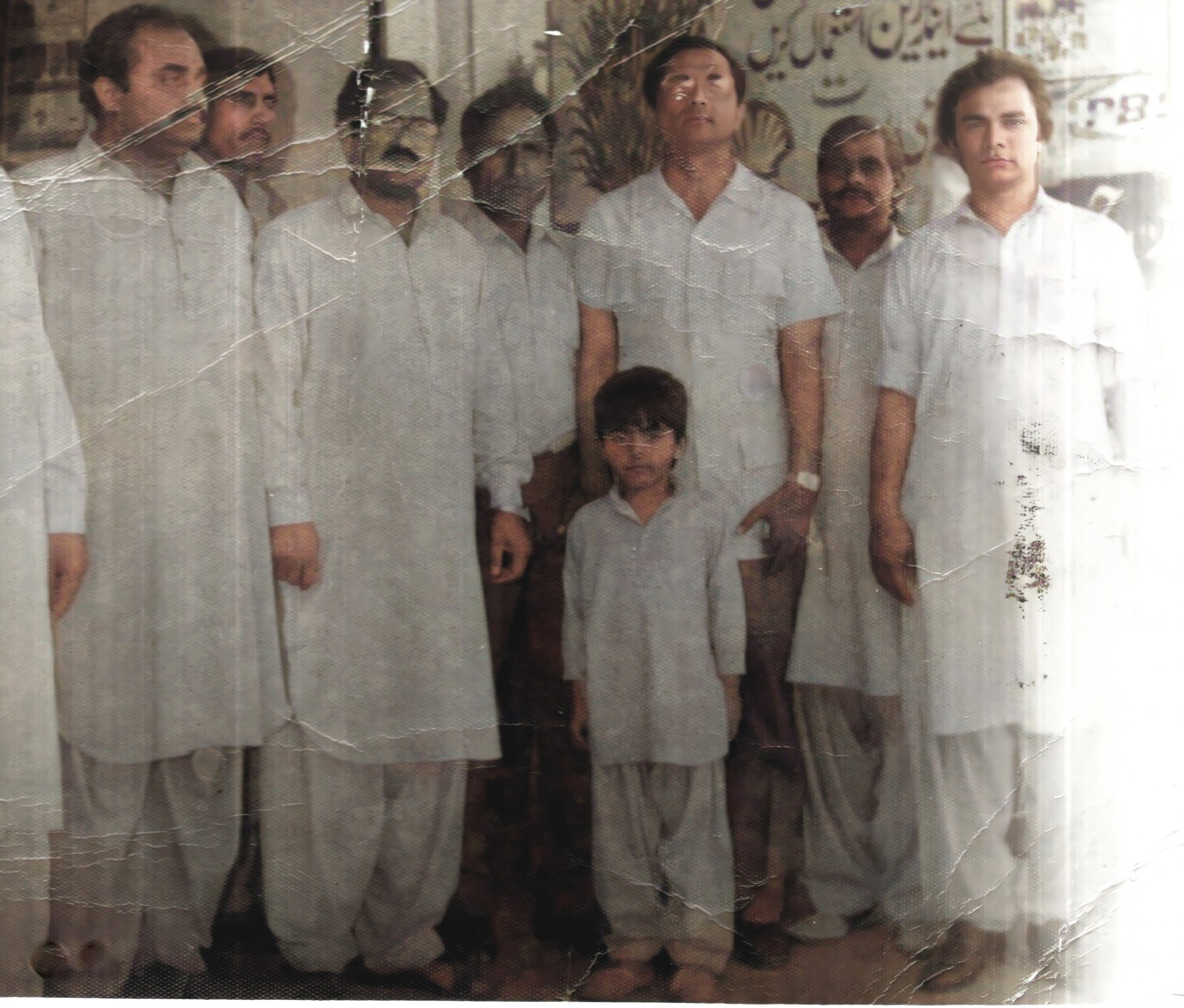 Mr MS Wahlah and Master Fraz Wahlah with Civil Rights Activists in Punjab Pakistan